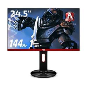 画面サイズ24.5インチ、フルHDで高速リフレッシュレート144Hzと高速応答速度1msと各種機能を...