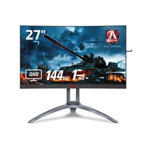 27インチワイドの曲面ディスプレイ「AG273QCX/11」は、2560 x 1440のQHD解像度...