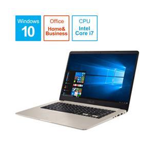 ASUS(エイスース) VivoBook S15 15.6型ノートパソコン Core i7 メモリ8GB HDD1TB Office付き Windows10 ゴールド S510UA-75GOS (S510UA75GOS) [振込不可]|y-sofmap