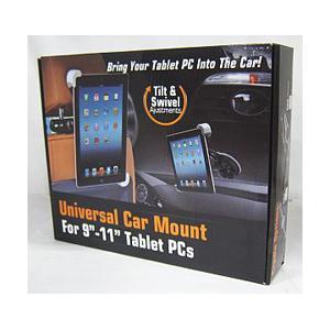 〔アウトレット〕- Universal Car Mount (9-11インチ タブレットPC用車載ホルダー/ブラック) 〔フロントガラス吸着&ヘッドレスト取付 両対応〕|y-sofmap