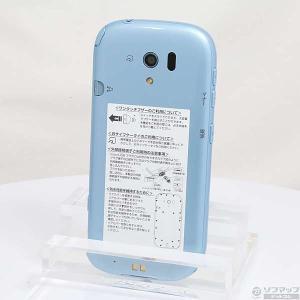 〔中古〕FUJITSU(富士通) らくらくスマートフォン3 8GB エアーブルー F06FLB do...