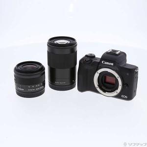 〔中古〕Canon(キヤノン) EOS Kiss M ダブルズームキット ブラック