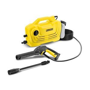 軽量・コンパクトなエントリークラスの家庭用高圧洗浄機。初心者でも工具無しで接続しやすいクイックタイプ...