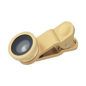 グリーンハウス セルカレンズ スマホ用広角・魚眼・マクロレンズ三種セット (ゴールド) GH-SLENZB-GL|y-sofmap