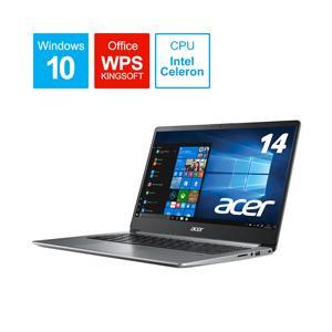 Acer(エイサー) Swift 1 14.0型ノートパソコン Celeron N4000 メモリ4GB SSD128GB Windows10 スパークリーシルバー SF114-32-N14Q/S (SF11432N14QS) y-sofmap