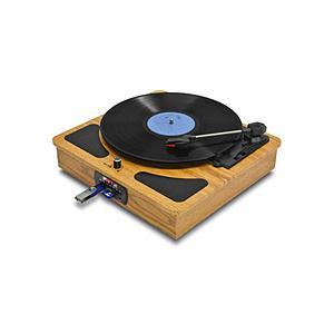 FMラジオ、メディアレコーダー/プレイヤーを搭載したオールインワン・レコードプレイヤー