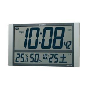 【09/27発売予定】 セイコー 電波掛け時計 「ネクスタイム」 ZS450S 銀色メタリック塗装|y-sofmap