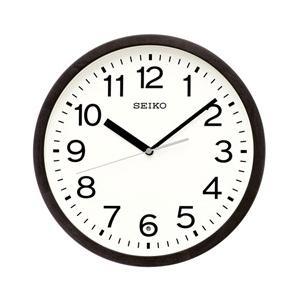 【07/26発売予定】 セイコー 電波掛け時計 KX249K 黒茶木地塗装|y-sofmap