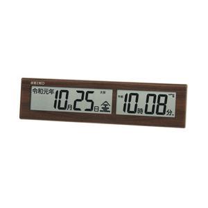 【07/19発売予定】 セイコー セイコー電波掛け時計 SQ441B 茶木目|y-sofmap