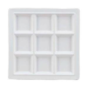 関東プラスチック工業 メラミン スクエアプレート 9仕切皿 M-2350 ホワイト <RSK5202>|y-sofmap