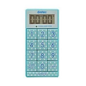 ドリテック デジタルタイマー「スリムキューブ」 T-520BL ブルー