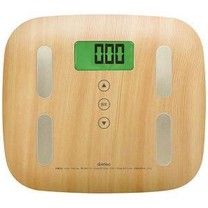 使いやすい木目タイプの体重体組成計。