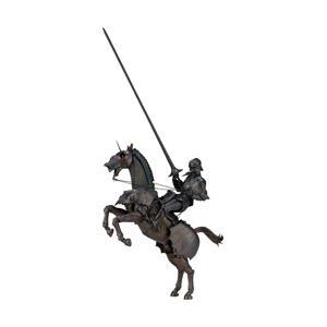 タケヤ式自在置物の西洋甲冑の立体化第2弾は、エクストリアンアーマー(騎手用甲冑)と鎧をまとった軍馬の...