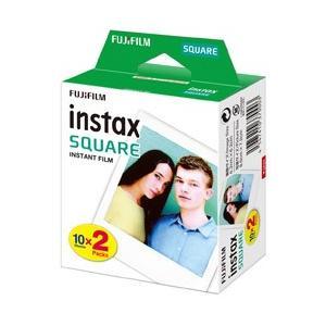 フジフイルム チェキ インスタントカラーフィルム チェキスクエア用フィルム 「instax SQUARE」 2パック(10枚入×2)
