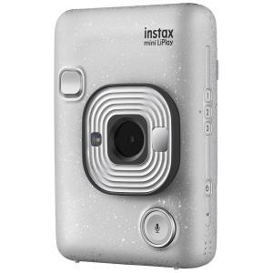フジフイルム ハイブリッドインスタントカメラ 『チェキ』 instax mini LiPlay ストーンホワイト