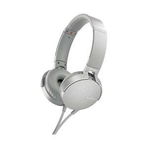 ソニー ステレオヘッドホン 密閉 ダイナミック MDR-XB550AP-W グレイッシュホワイト SONY