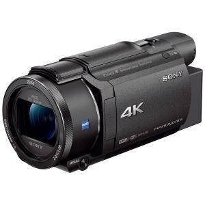 ソニー メモリースティック/SD対応 64GBメモリー内蔵 4Kビデオカメラ(ブラック) FDR-A...