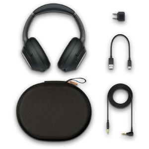 ソニー(SONY) ワイヤレスノイズキャンセリングステレオヘッドセット WH-1000XM3BM [ハイレゾ対応/約1.2m、金メッキステレオミニプラグ] ブラック|y-sofmap|05