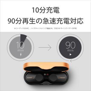 ソニー(SONY) フルワイヤレスイヤホン WF-1000XM3 BM ブラック [ワイヤレス(左右分離) /Bluetooth /ノイズキャンセリング対応]|y-sofmap|05