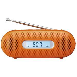 【お取り寄せ】パナソニック 【ワイドFM対応】FM/AM 手回し充電ラジオ(オレンジ) RF-TJ20-D|y-sofmap