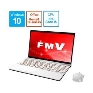 富士通 LIFEBOOK AH52/C2 15.6型ノートパソコン Core i5 メモリ8GB SSD256GB Office付き Windows10 プレミアムホワイト FMVA52C2WB y-sofmap
