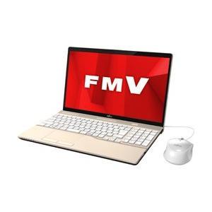 富士通 LIFEBOOK AH45/D1 15.6型ノートパソコン Core i3 メモリ4GB HDD1TB Office付き Windows10 シャンパンゴールド FMVA45D1G|y-sofmap