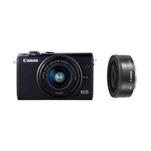 キヤノン(Canon) EOS M100 ダブルレンズキット (ブラック) ミラーレス一眼カメラ [振込不可]|y-sofmap