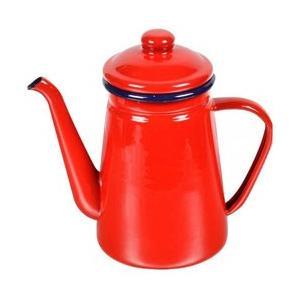 オール熱源対応の可愛いホーローコーヒーポットで、味わい深く、温かみのあるホーロー製のコーヒーポット。