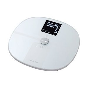 ELECOM(エレコム) 「エクリア 体組成計」(Wi-Fi通信機能搭載) HCS-WFS01WH ホワイト [スマホ管理機能あり] HCS-WFS01WH ホワイト [スマホ管理機能あり]の画像