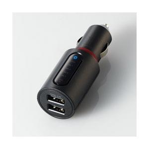 エレコム FMトランスミッター/Bluetooth/USB2ポート付/2.4A/おまかせ充電/4チャ...