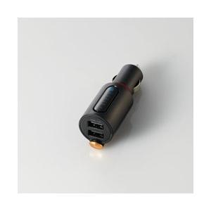 エレコム FMトランスミッター/Bluetooth/USB2ポート付/3.4A/おまかせ充電/重低音...