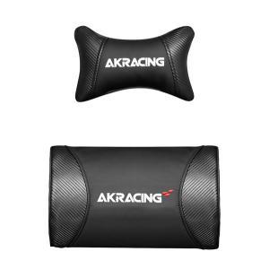 AKRacing ゲーミングチェア/座椅子およびオフィスチェア専用のヘッドレスト+ランバーサポートセ...