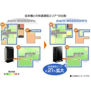 NEC Aterm PA-WG2600HP3 無線LANルーター [無線ac/a/n/g/b・有線LAN Android/iOS/Mac/Win] 1733+800Mbps・ギガルーター (PAWG2600HP3)|y-sofmap|03