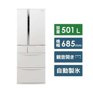 【11/15発売予定】【基本設置料金セット】 パナソニック(Panasonic) 冷蔵庫 NR-FVF505-W ハーモニーホワイト 【お届け日時指定不可】|y-sofmap