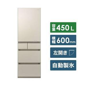 【11/15発売予定】【基本設置料金セット】 パナソニック(Panasonic) 冷蔵庫 NR-E455PXL-N サテンゴールド 【お届け日時指定不可】|y-sofmap