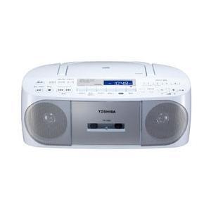 東芝 【ワイドFM対応】CDラジオカセットレコーダー(シルバー)TY-CDS7 S