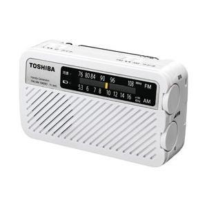 東芝 【ワイドFM対応】FM/AM 手回し充電ラジオ TY-JKR5W