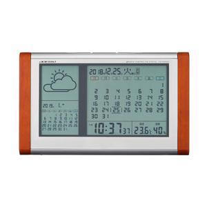 アデッソ ADESSO カレンダー天気予報表示付き電波時計 TB-834