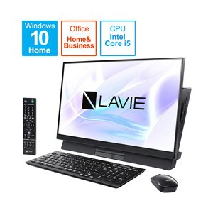 NEC LAVIE Desk AllinOne PC-DA670MAB-2 ファインブラック 27型デスクトップパソコン Core i5 メモリ8GB HDD1TB Office付き Windows10 (PCDA670MAB2)|y-sofmap