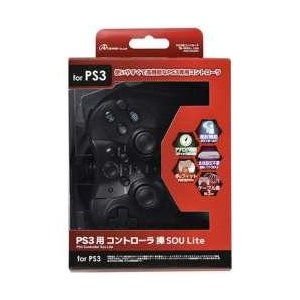 【在庫限り】 アンサー PS3用 コントローラ 操 Lite ブラック [ANS-P064BK] [振込不可] y-sofmap