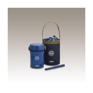 サーモス ステンレスランチジャー(茶碗1.3杯分) JBC-801-NVY ネイビー