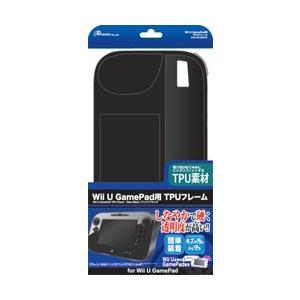 アンサー Wii U用 ゲームパッド TPUフレーム クリアブラック y-sofmap