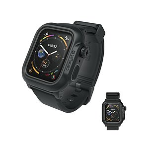 トリニティ Apple Watch Series 4 44mm 完全防水ケース バンド付 CT-WPAW1844-BK ブラック|y-sofmap