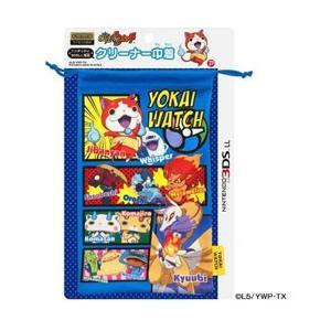 プレックス 妖怪ウォッチ NINTENDO 3DS LL対応 クリーナー巾着 ブルー 【3DS LL...