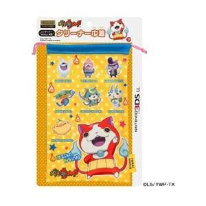 プレックス 妖怪ウォッチ NINTENDO 3DS LL対応 クリーナー巾着 イエロー 【3DS L...