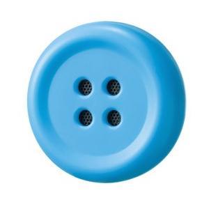 博報堂 Pechat(ペチャット)/ブルー/ぬいぐるみをおしゃべりにするボタン型スピーカー P03
