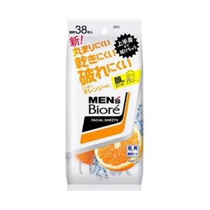 花王 メンズビオレ 洗顔シート さっぱりオレンジの香り 卓上用 (38枚) 〔その他洗顔〕