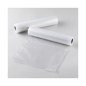 低温調理機器に対応した専用の真空袋です。 Lサイズ、5m巻きのロール2本組です。