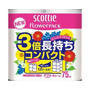 日本製紙クレシア スコッティフラワーパック3倍巻...の商品画像