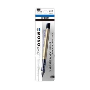 トンボ鉛筆 [シャープペン] モノ消しゴム搭載シャープペンシル モノグラフ パック ゴールド (芯径:0.5mm) DPA-132H|y-sofmap